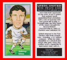 Leeds United Johnny Giles Eire 6